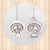 Sterling Silver Drop Earrings with Sassy Turkeys