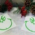 Set of 24 Ornament Size Grinch Face Vinyl Decal / Sticker / D.I.Y Project /