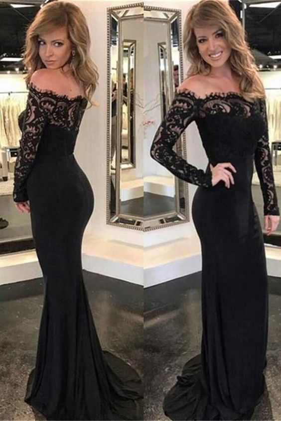 9c5f03e60734 Prom Dresses Black Lace Prom Dresses, Black by RosyProm on Zibbet