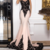 Sophisticated Tulle & Acetate Satin Jewel Neckline Mermaid Evening Dresses With