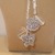 Scarf necklace - Blank - Long - Heart and Butterfly charms