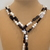Scarf necklace - Black and White - Long
