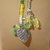 Scarf necklace - Green and Yellow - Long - Heart, Butterfly and Starfish charm