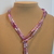 Scarf necklace - Purple - Short