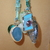 Scarf necklace - Turquoise - Short - Camera charm