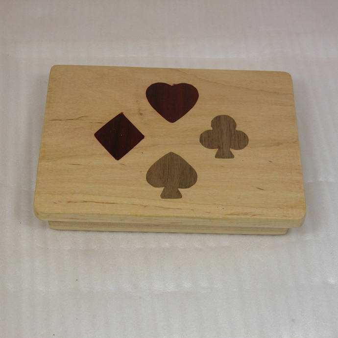 Playing Card Box - Beautiful Addition to Game Night - Four  Suits - Diamond