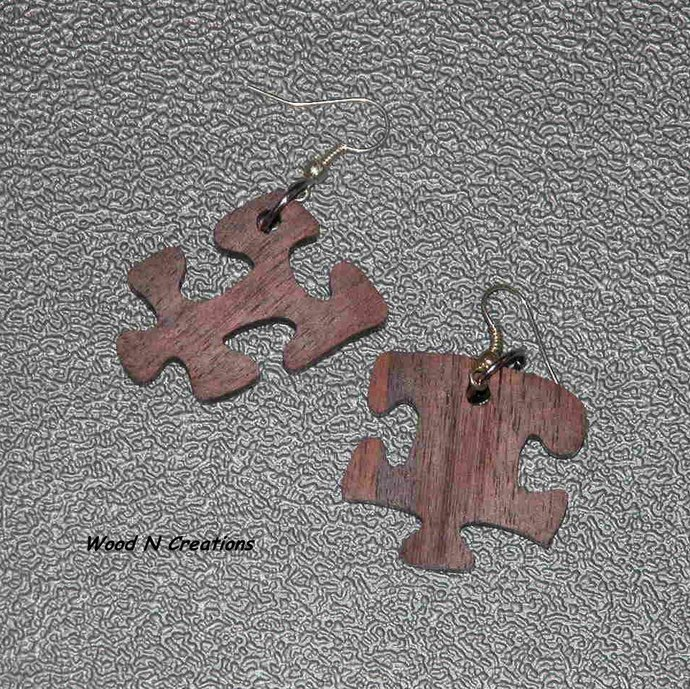 Earrings Puzzle Pieces - Free Shipping