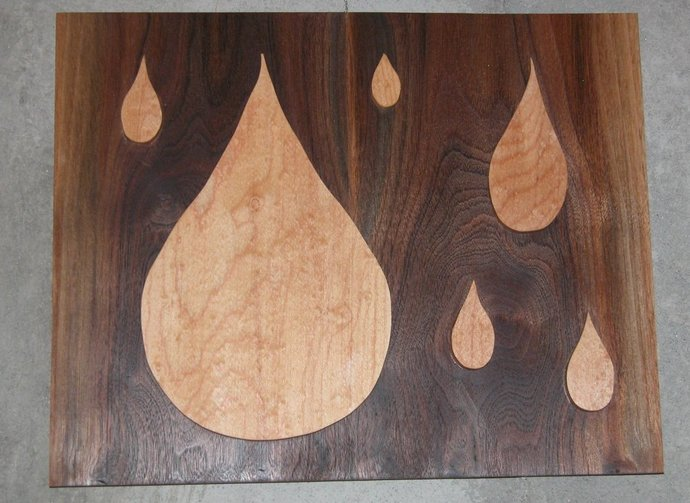 Rain Drop Wooden Wall Art - Contemporary Look - Free Shipping
