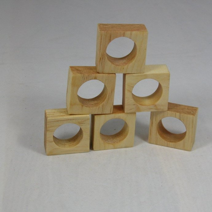 5d226f4e9a9 Napkin Rings Set of 6 - Free Shipping by Wood N Creations on Zibbet