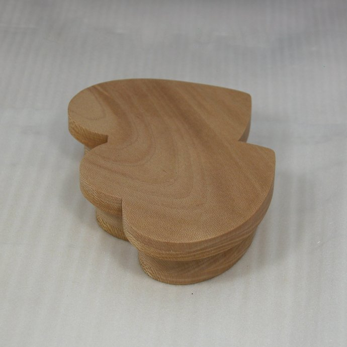 Double Heart Shaped Wooden Jewelry or Trinket Box - Vanity Accessory -