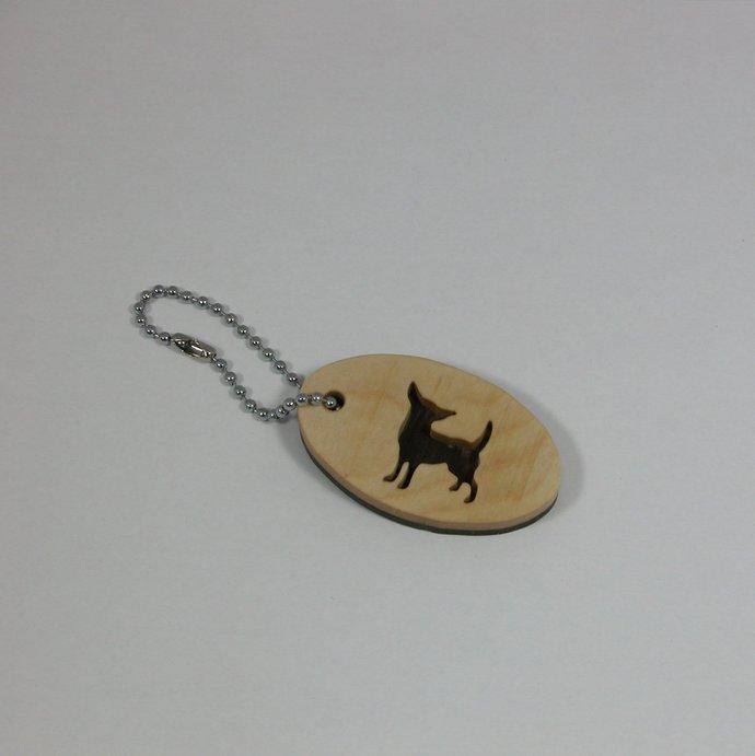 Chihuahua Keychain Key Holder Key By Wood N Creations On Zibbet