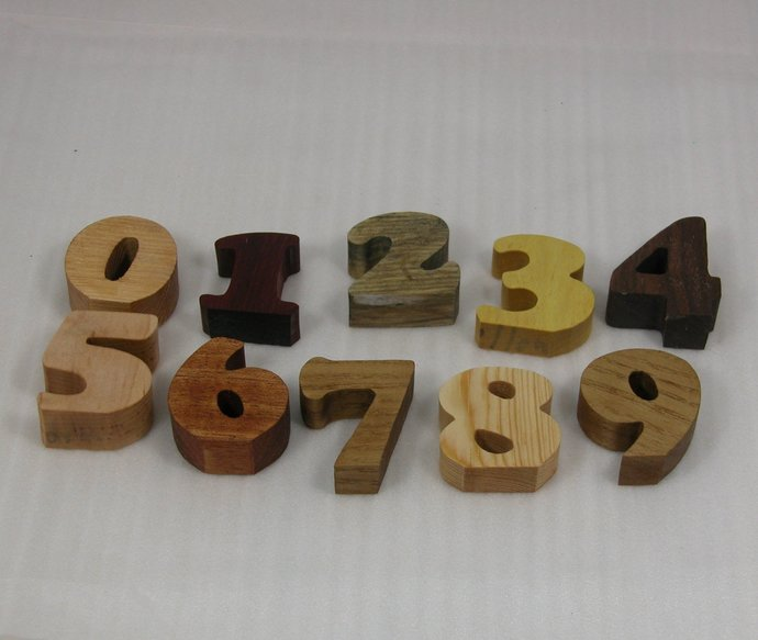Child's Toy Numbers -  Kid's Decor  - Early Education - Kid's Educational Toy -