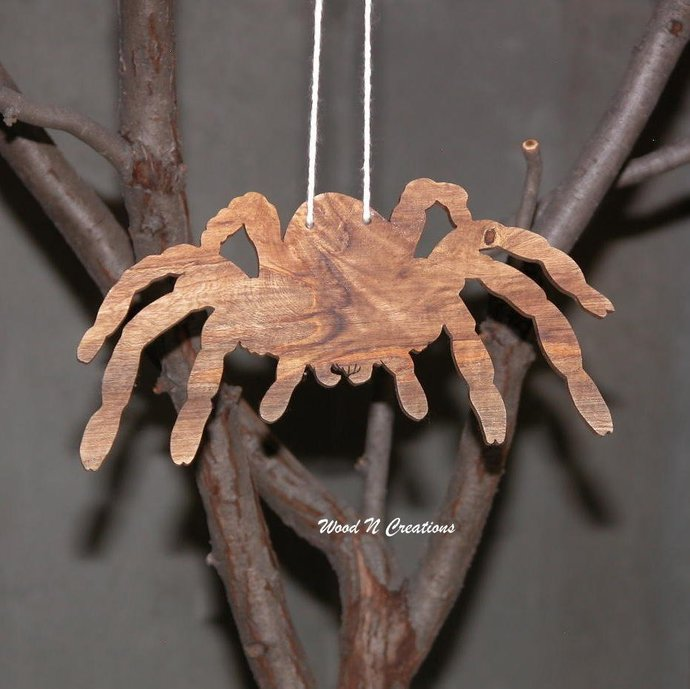 Hanging Wooden Spider - Free Shipping