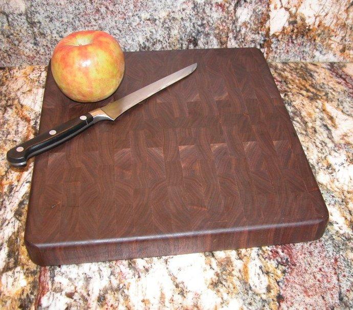 Wooden Cutting Board - All Walnut Endgrain