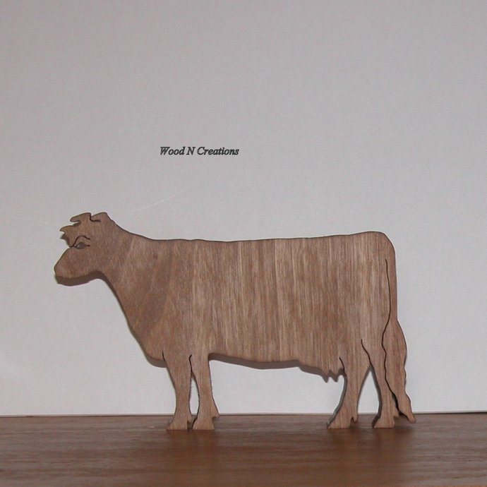 Cow Shaped Trivet or Home Decor for Kitchen - Wooden Trivet -  Free Shipping
