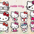 Hello Kitty Svg, Hello kitty Cutfiles: Svg, Dxf, Eps, Png files, Layered hello