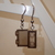 LEGO earrings - Dangling - See Trough Grey