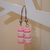 LEGO earrings - Dangling - Pink and White stripes
