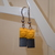LEGO earrings - Dangling - Yellow and black