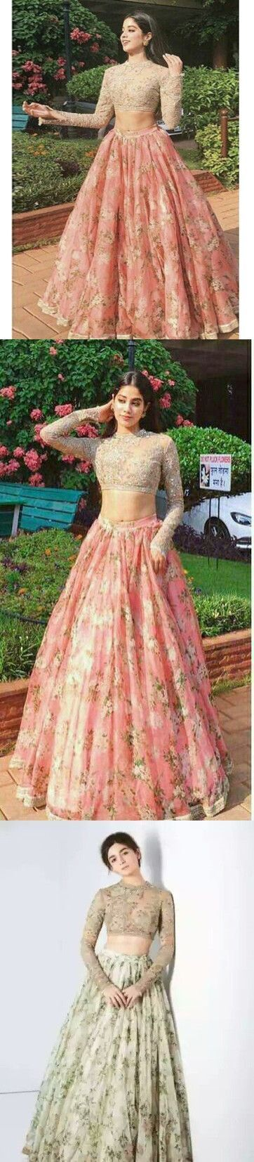 2fea81d772 Two Piece Lace Prom Dress Indian Gold And Pink by PrettyLady on Zibbet