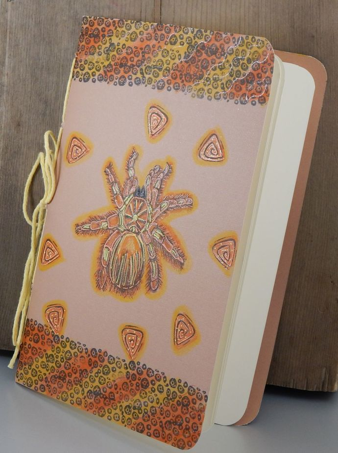 Tarantula Notebook - Paper Journal - Hand-Stitched - Hand-Printed - Blank Book