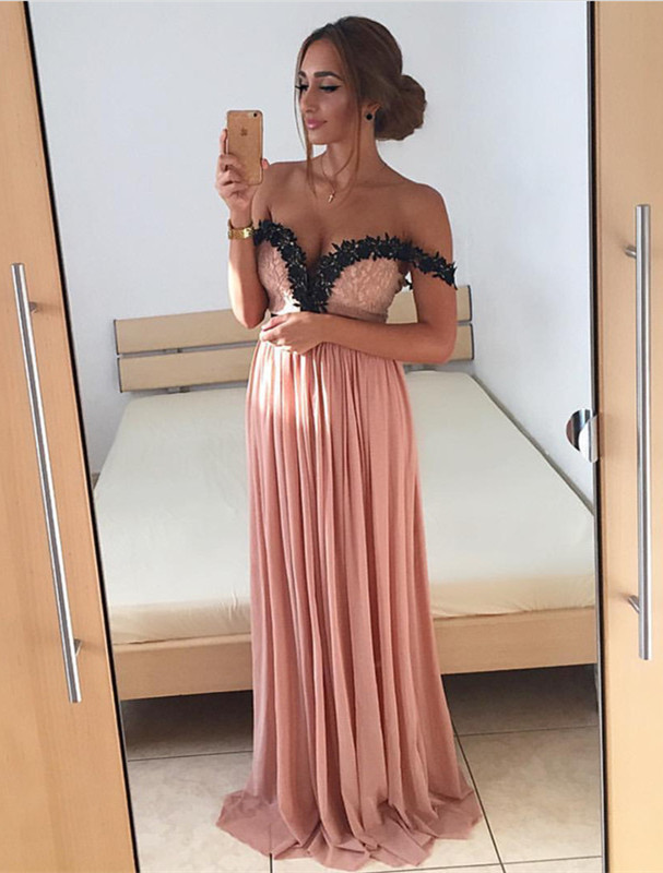 off the shoulder prom dress,long evening gowns,elegant bridesmaid dress,lace