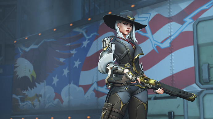 "Overwatch Ashe Polyester Fabric Poster (13""x19"" or 18""x28"")"