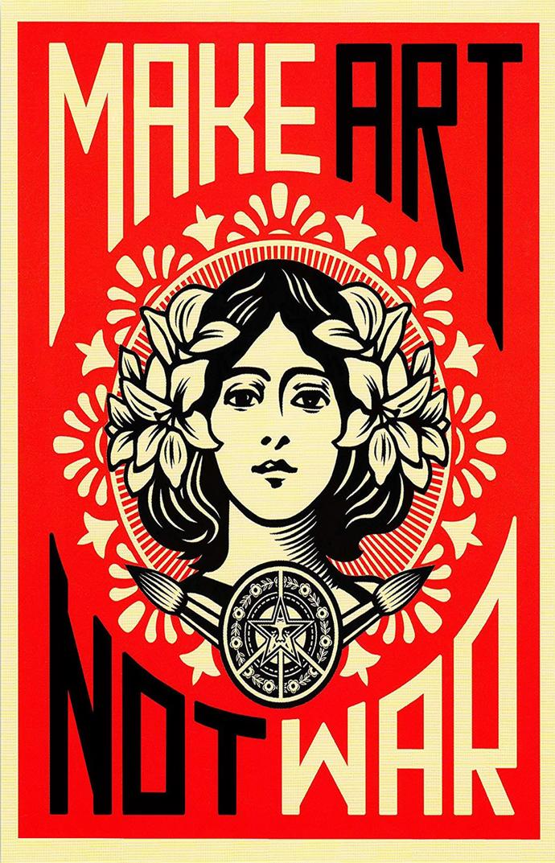 """Make Art Not War Canvas Print (13""""x19"""" or 18""""x28"""")"""