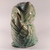 Even the wise are sometimes afraid of the future... Sea foam green ceramic owl.