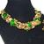 Green Dragon Necklace Bracelet Earring Art Glass Schiaparelli Attributed
