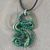 Handmade Polymer Clay Green Snake Pendant Necklace Choker