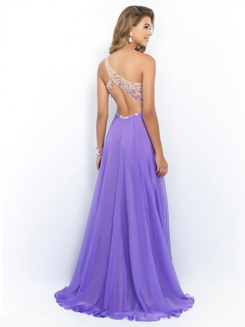 Princess One-shoulder Chiffon Prom Dresses 2018 Formal Dresses Evening Dresses