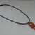 Handmade Polymer Clay Orange Snake Pendant Necklace Choker