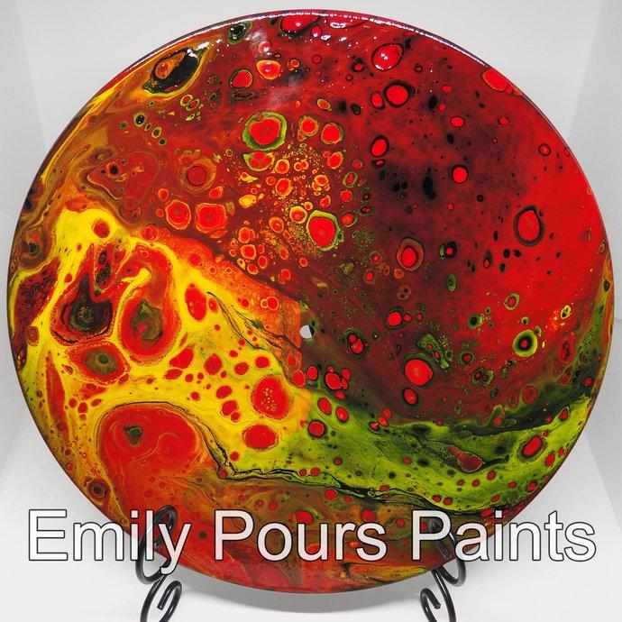 Round Fluid Acrylic Painting