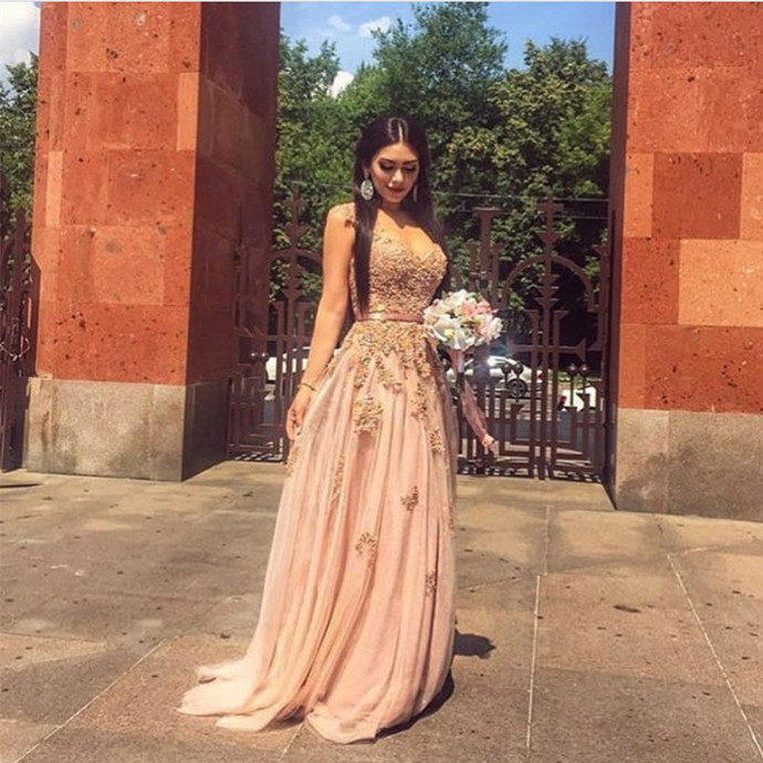 champagne bridesmaid dress,tulle prom dress ,elegant evening gowns,bridesmaid
