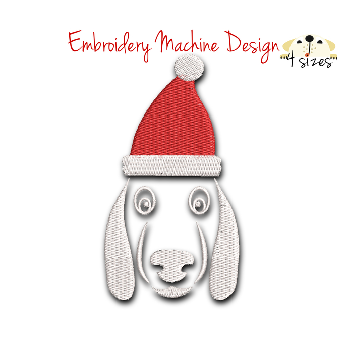 Dog embroidery design christmas machine designs pes pattern