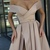 Copy of Sexy BluSexy Champagne Prom Dresses V-Neck Long Evening Dress Elastic