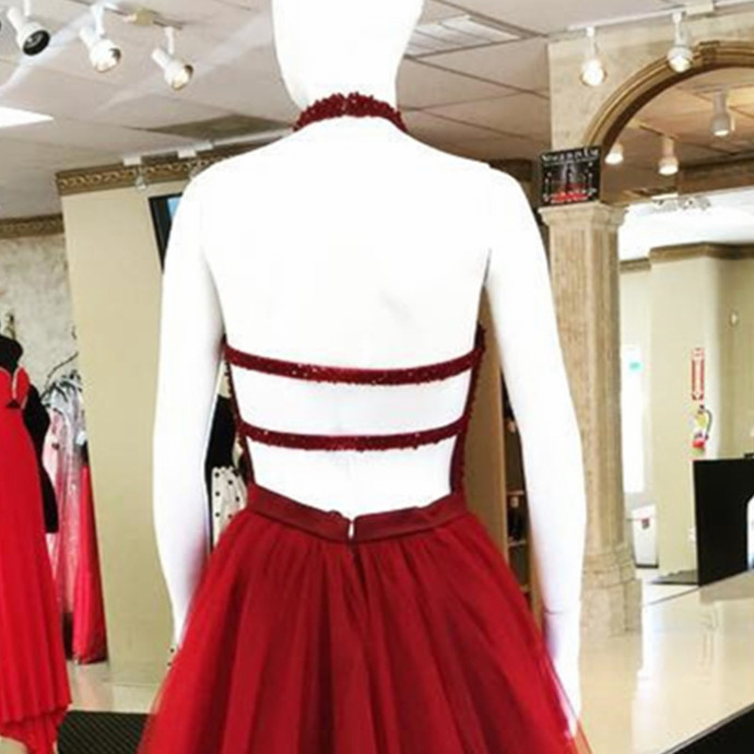 short prom dresses,open back prom gowns,burgundy homecoming dresses,wine red