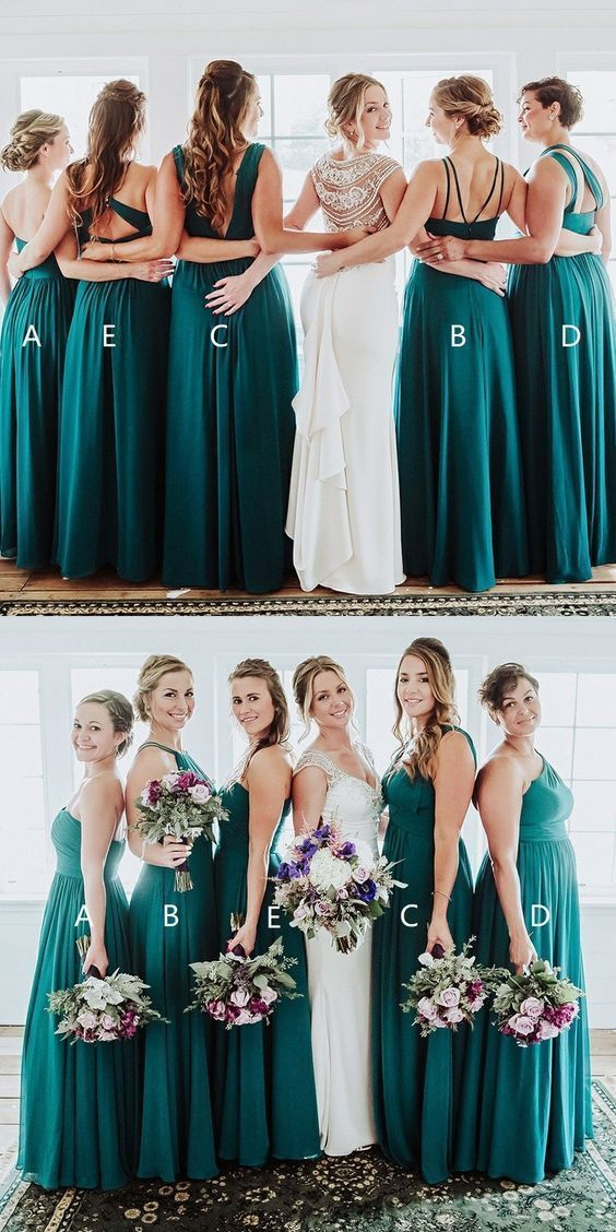 Sexy Floor Length A Line Bridesmaid Dresses