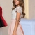 Beautiful Cap Sleeves Elegant Pink Long Lace Party Prom Dresses