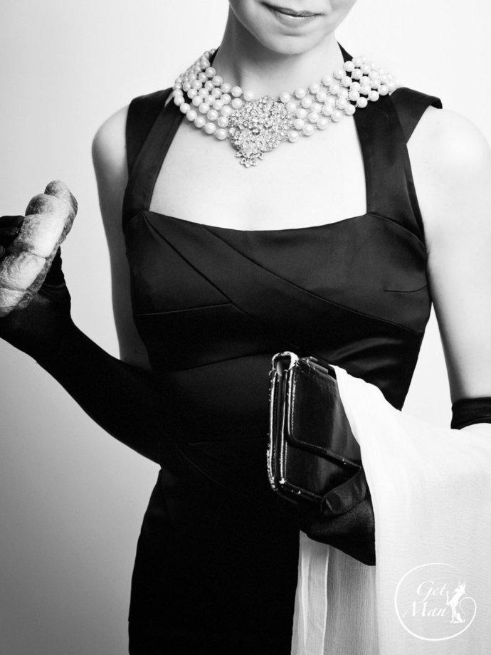 Audrey Hepburn Pearl Necklace, Wedding Jewelry Set