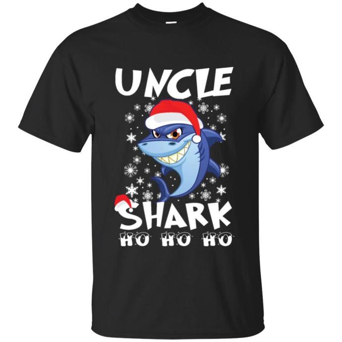 Uncle Shark Ho Ho Men T-shirt, Shark Ho Ho Tee, Uncle Shark Ho Ho T-shirt, Uncle