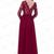 Beautiful Charming Long Burgundy Lace Chiffon Long Sleeves Prom Dresses