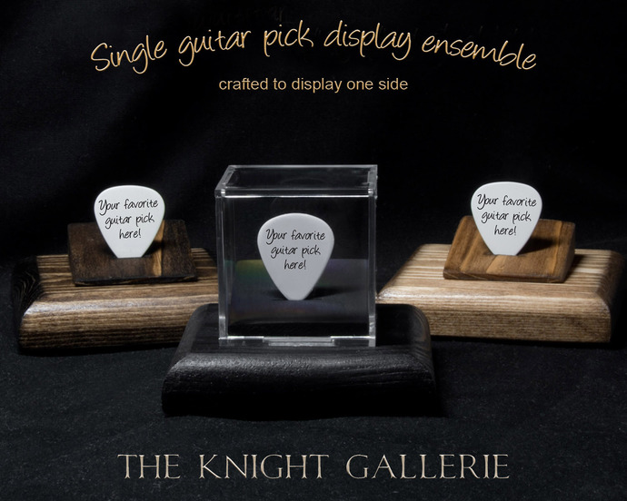 Single Guitar Pick Display Ensemble