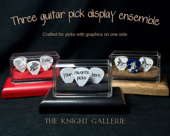 3 Guitar Pick Display Ensemble