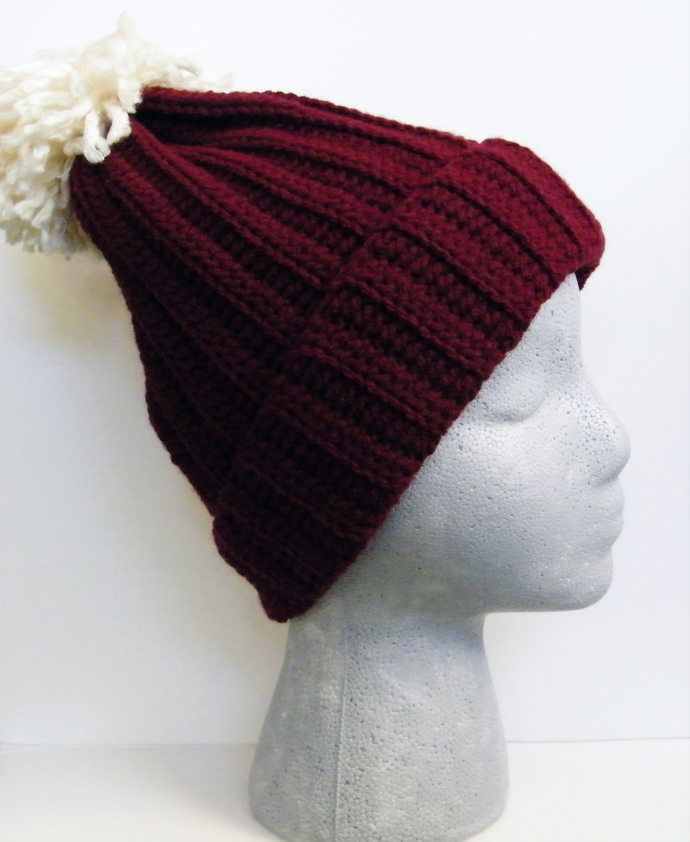573d68bc85856 Pom Pom Beanie Hat Women s Winter by TheStylishMandala on Zibbet