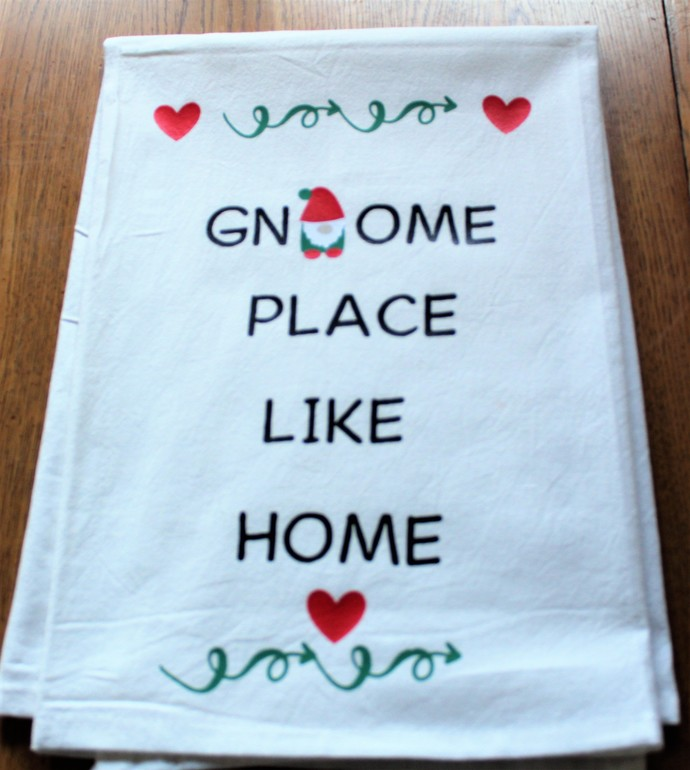 GNOME PLACE LIKE HOME Kitchen Towel -