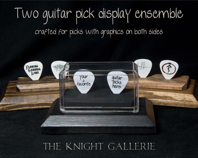 2 Guitar Pick Display Ensemble  (flat)