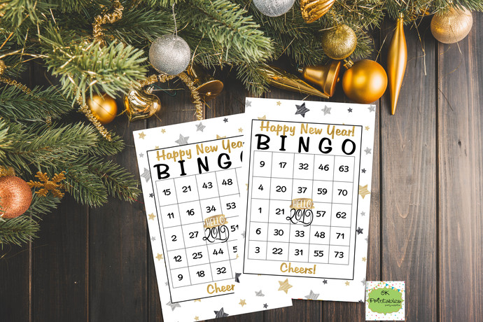 30 happy new year 2019 bingo cards printable game new year eve party instant