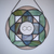 """""""Togetherness Mandala"""" Stained Glass Talisman with Ceramic Seed of Life"""